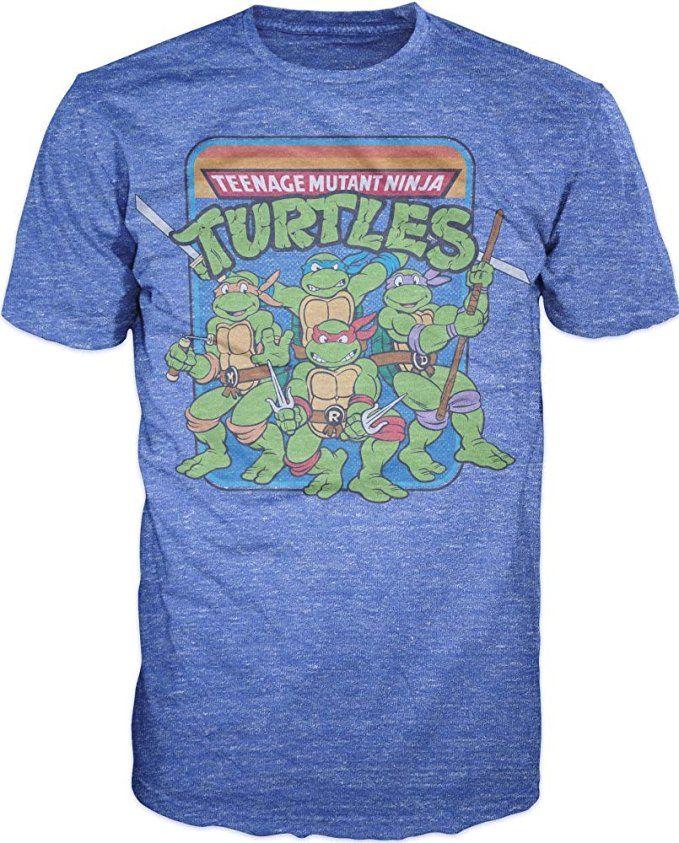 05e1bb07d Teenage Mutant Ninja Turtles Group Image T-Shirt (2X-Large)   TMNT ...