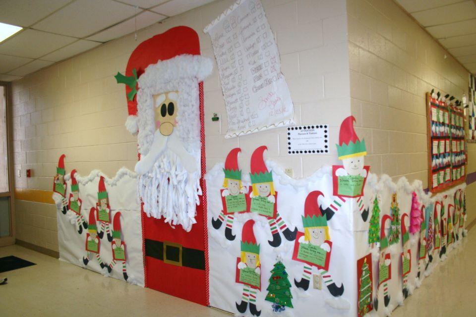 Classroom Santa Door And Hallway Decoration Christmas