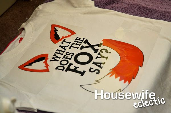 Housewife Eclectic: What Does The Fox Say? Layered Heat Transfer Shirt