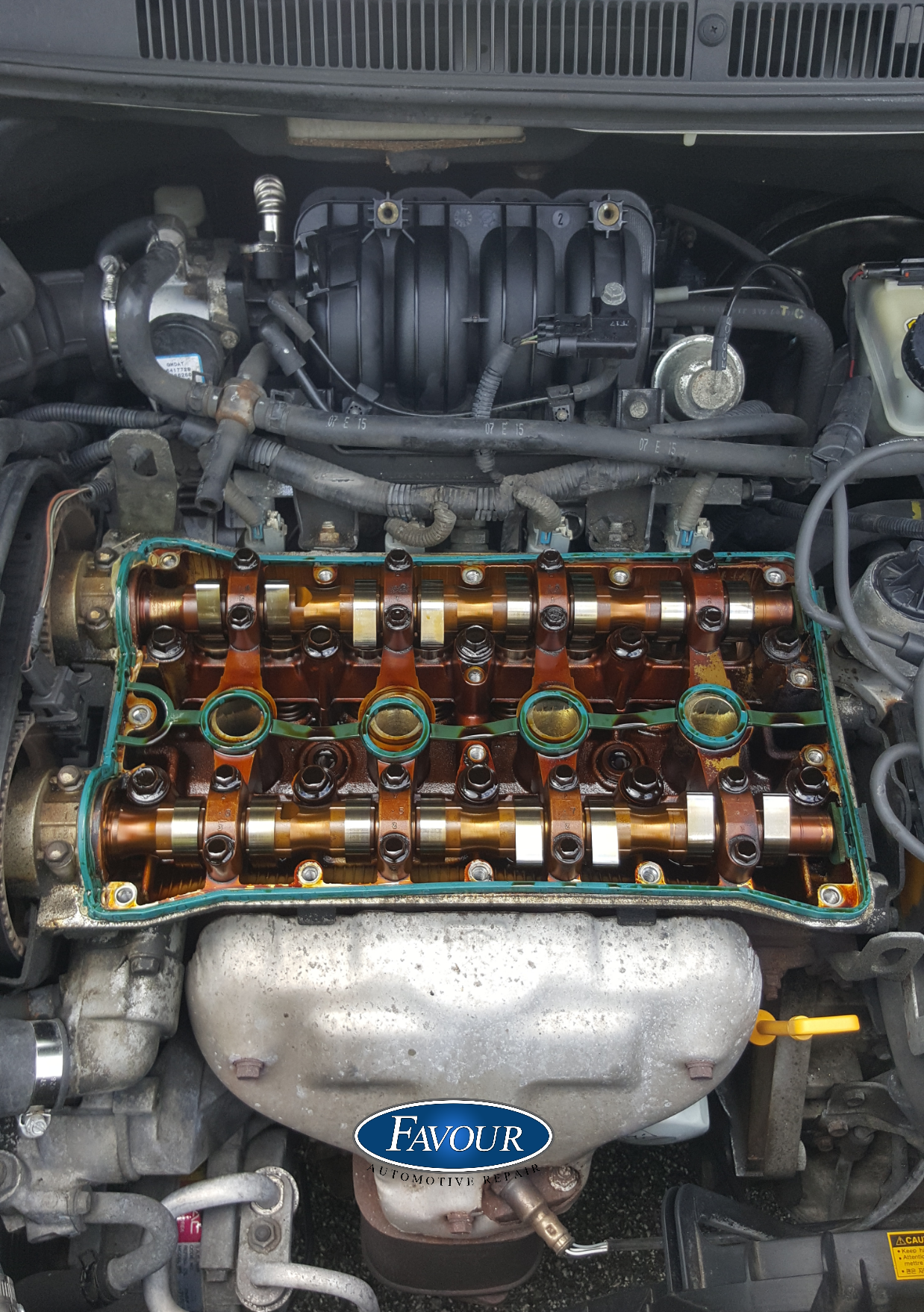Replaced A Worn Valve Cover Gasket On A 2007 Chevy Aveo Diy