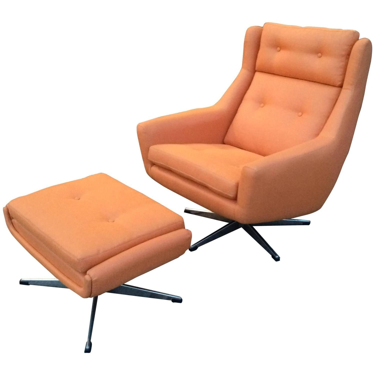 Moderner Fernsehsessel Mid-century Modern Lounge Chair And Ottoman Attributed To John Stuart | Moderne Lounge, Lounge Sessel, Drehstuhl