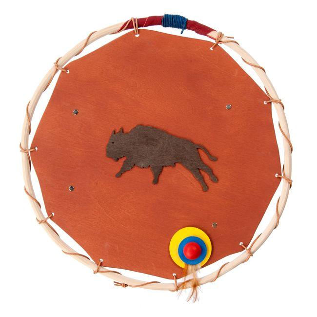 Hochwertiges Indianer Schild aus Leder
