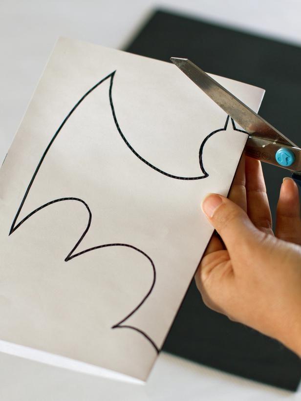 Halloween Kids\u0027 Craft Hanging Foam Bats Bat template, Bats and - halloween templates to cut out