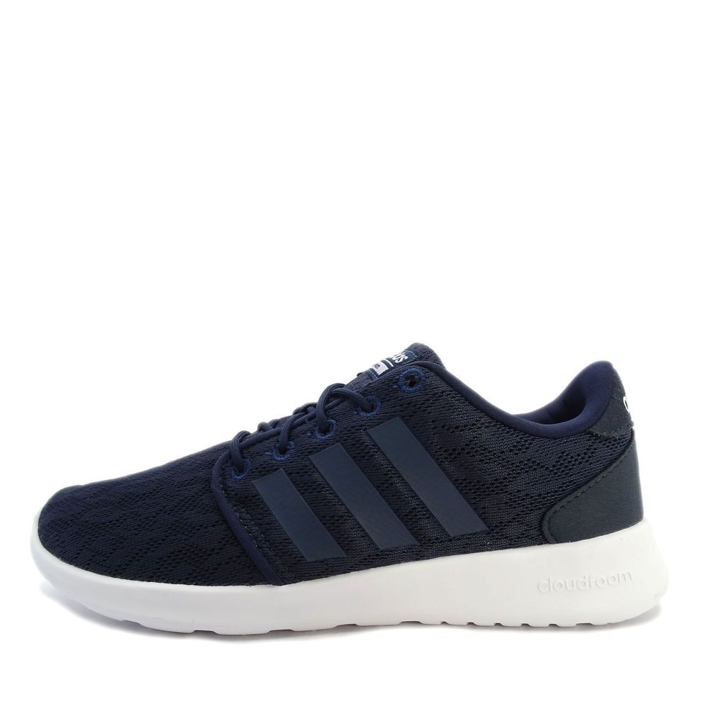 factory price 0a37a 0ccc9 Details about Adidas Womens Neo Cloudfoam CF QT Racer Running Shoes Navy  Size 8.5 M