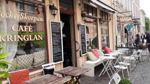 Ein schönes gemütliches Cafe im Haga-Viertel in Göteborg