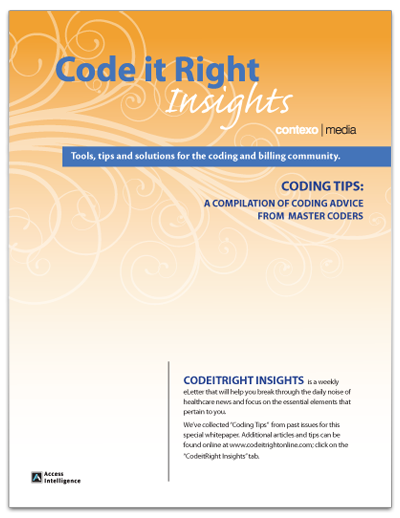 Code it Right Insights – Coding Tips – Thank You | Medical Coding ...