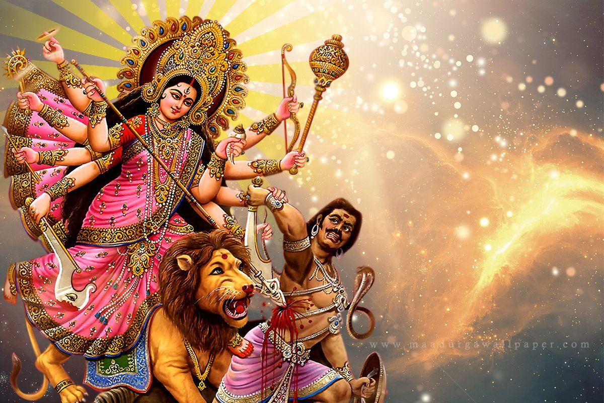 Maa Durga Photo Hd Pics Images Download Free From Our Goddess Wallpaper Collection To Make Your Desktop Screen Spiritual And R Durga Durga Maa Durga Chalisa