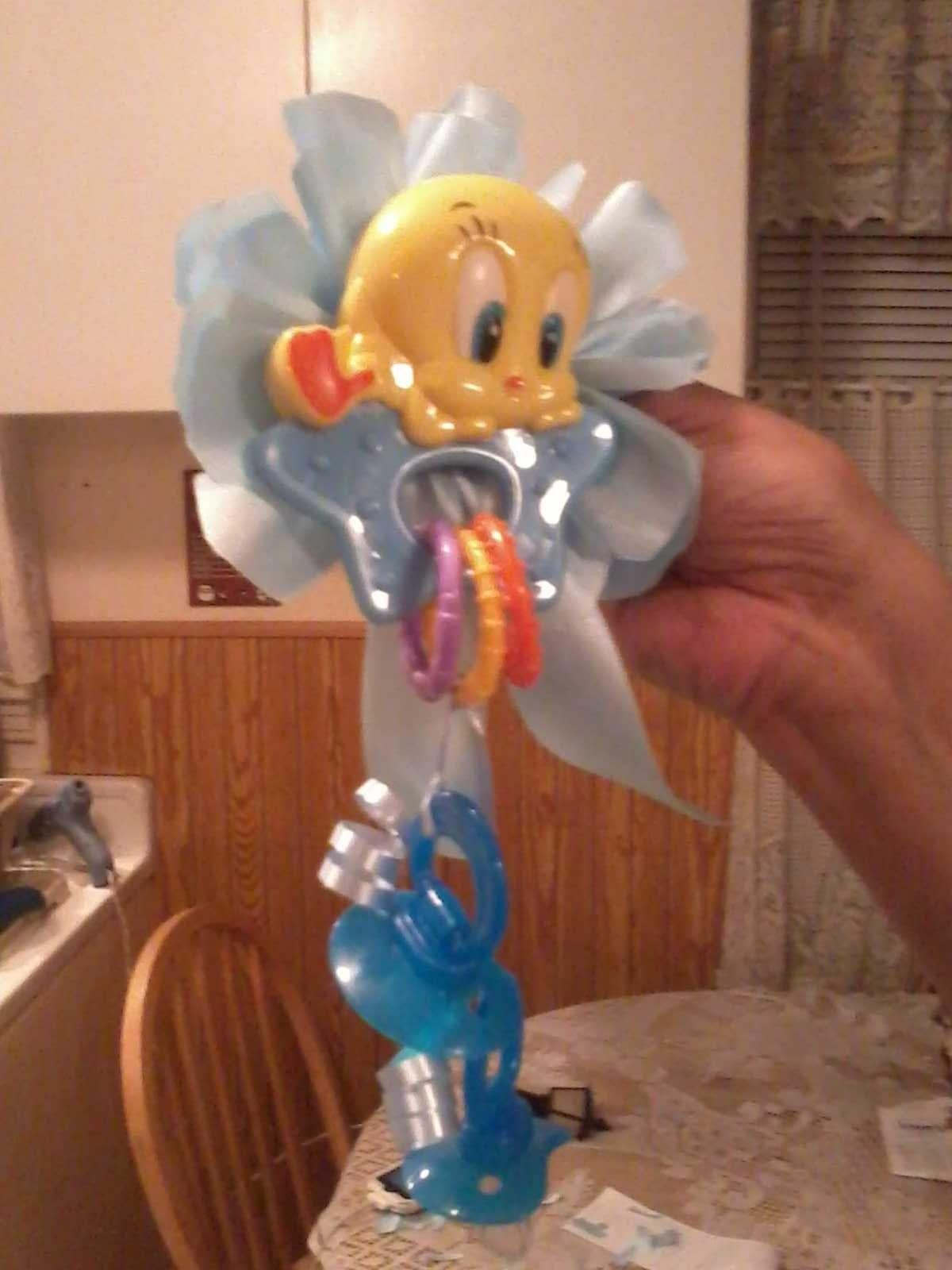 Tweety Bird Baby shower corsage I believe Pinterest