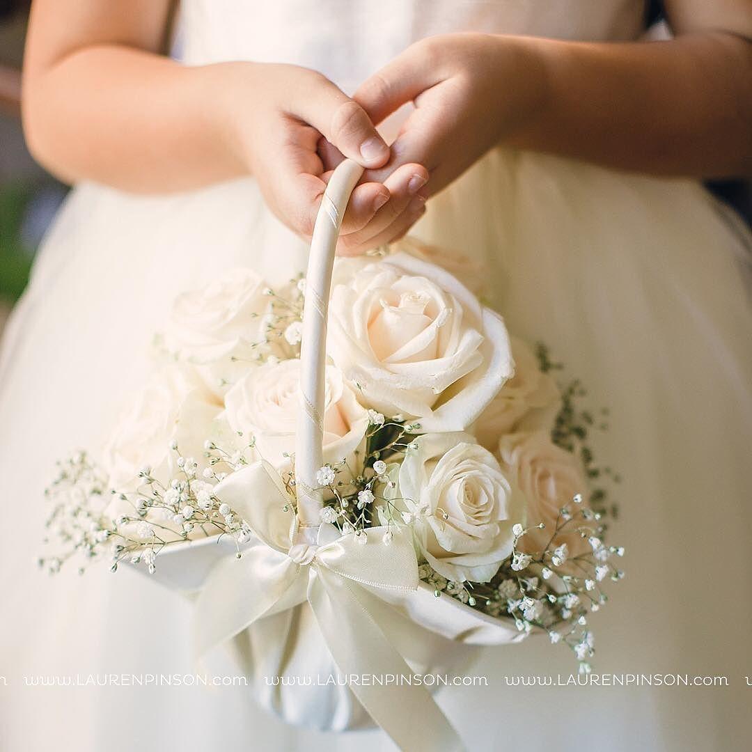 Love This Flower Girl Basket Laurenpinsonphotography