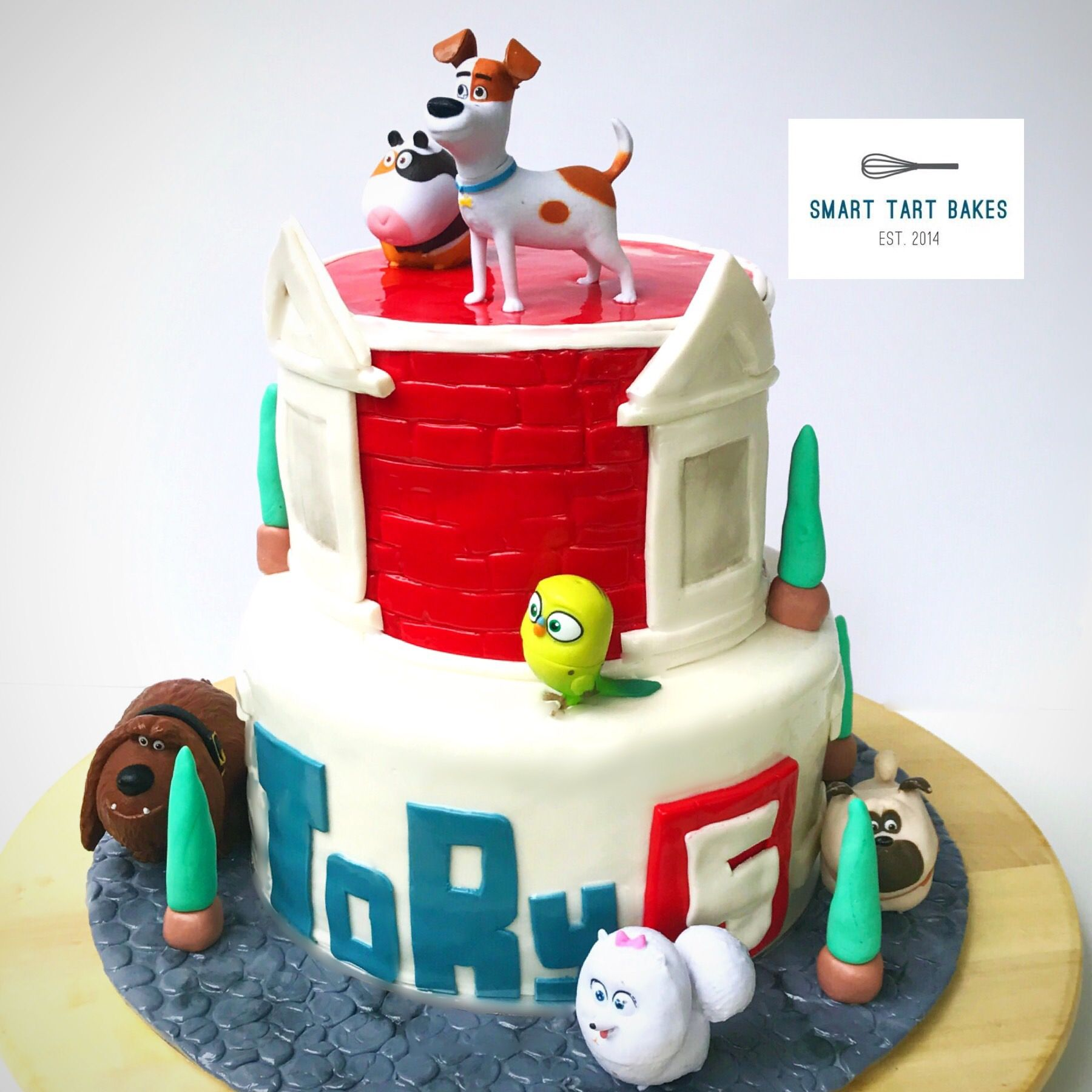 Secret Life Of Pets Cake Stacked Cake 2 Year Old Birthday Party