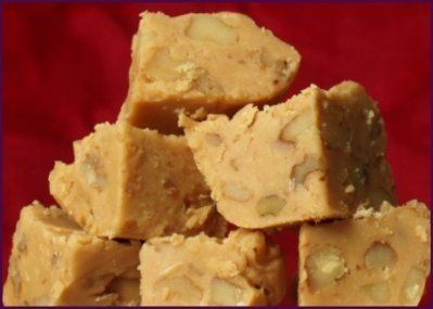 Penuche Fudge.  Substitute Canna-Butter to make the #MMJ way!