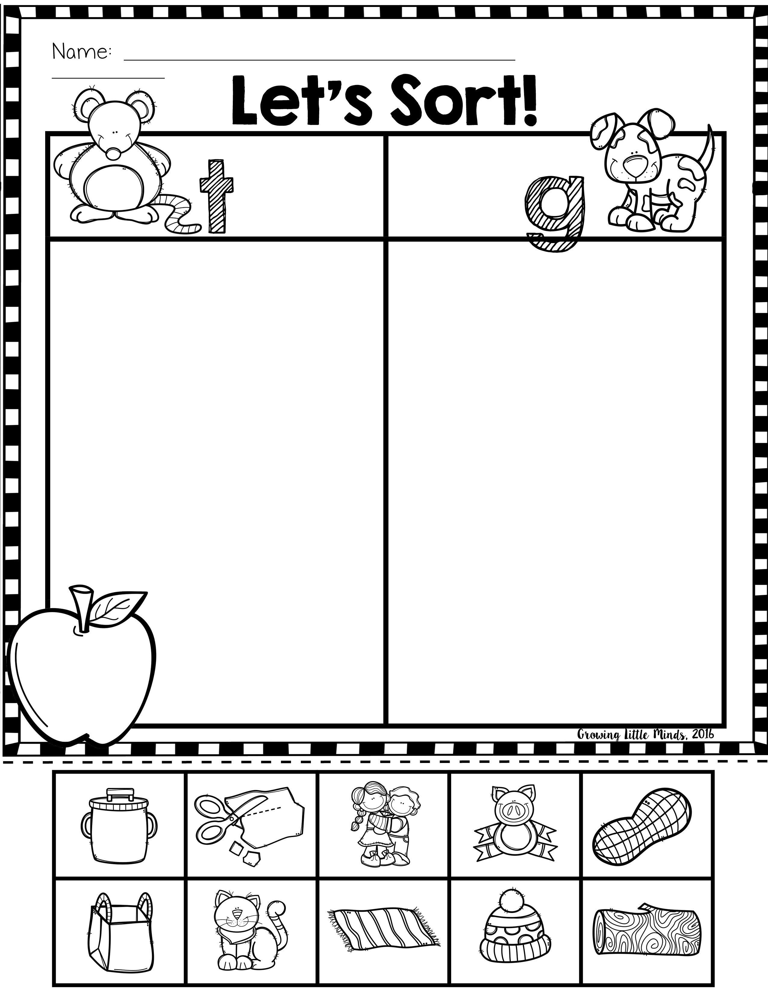Ending Sounds Phoneme Isolation Sorts Kindergarten Worksheets Kindergarten Worksheets Printable Free Kindergarten Worksheets [ 3300 x 2550 Pixel ]