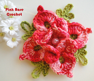 \ PINK ROSE CROCHET /: As Flores