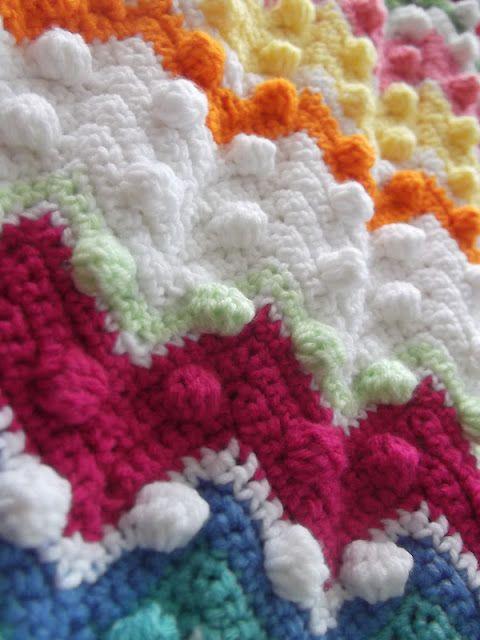 Ripple stitch bobbles