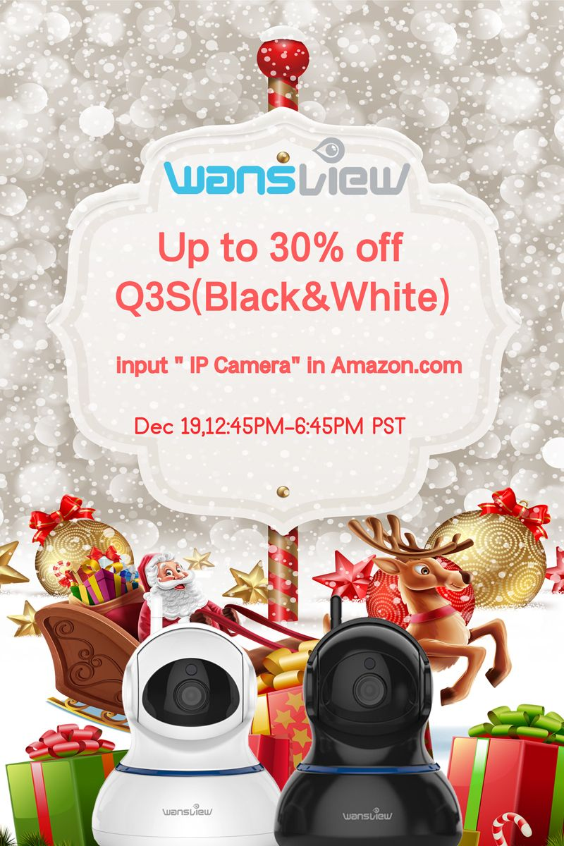 c0d76a3aeb MerryChristmas season US #deal-Up 30% off 1080p indoor camera Q3S ...