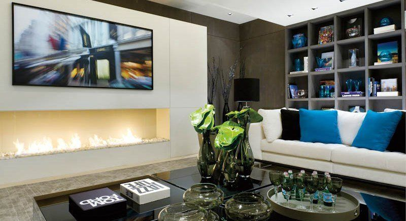TV Ethanol Kamin Ohne Schornstein A Fireplace