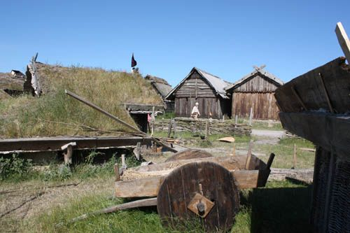 Foteviken Museum Vikings In Their Natural Habitat Viking Village Vikings Viking House