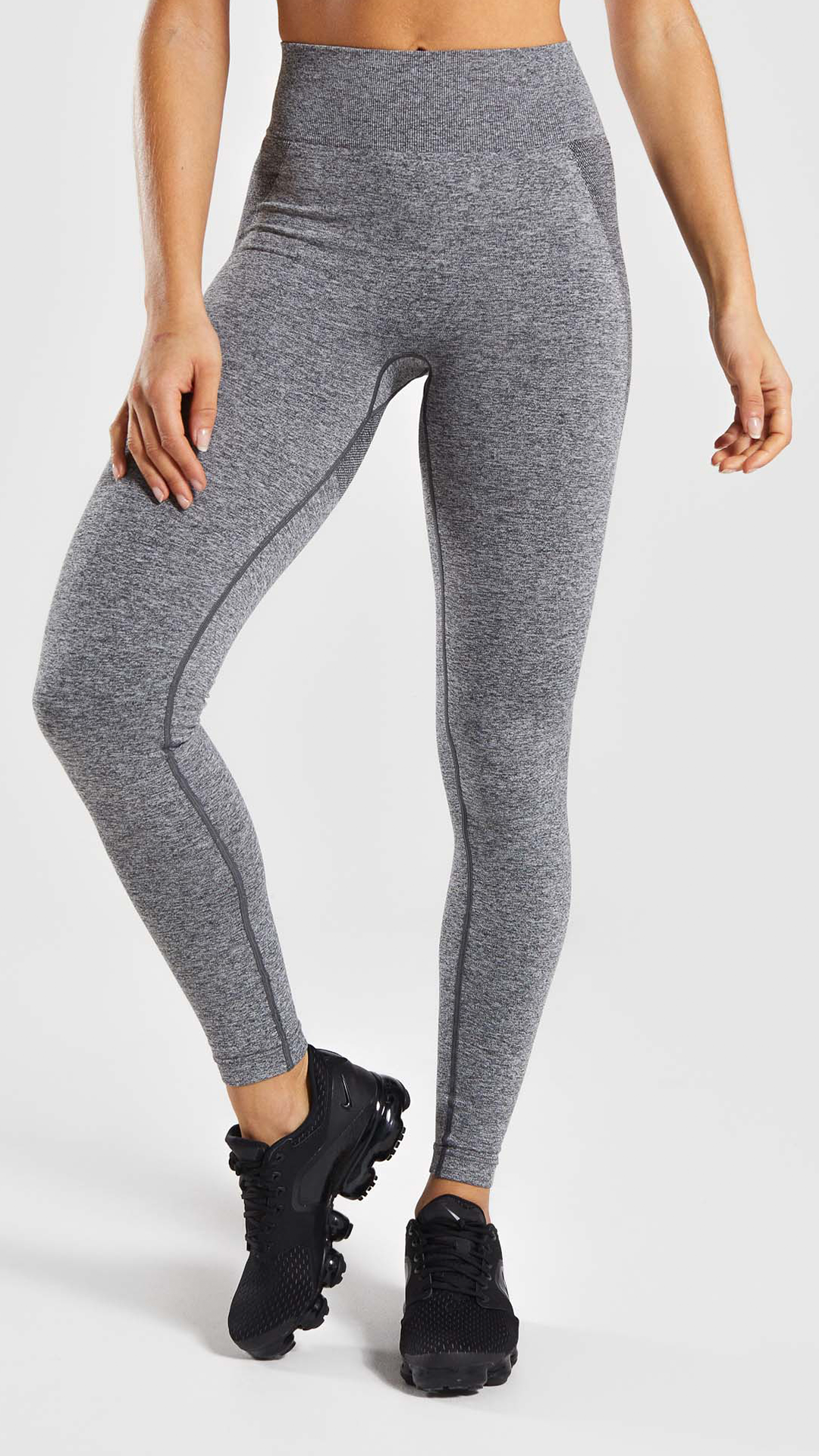 b387b3bdca82e The Flex High Waisted Leggings, Charcoal Marl/ Dusky Pink. The awaited  favourite Flex style in a high waisted design. With branding to the back  and seamless ...