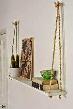 Naifandtastic:Decoración, craft, hecho a mano, restauracion muebles, casas pequeñas, boda: DIY: Estanterías hechas con cuerda de saco
