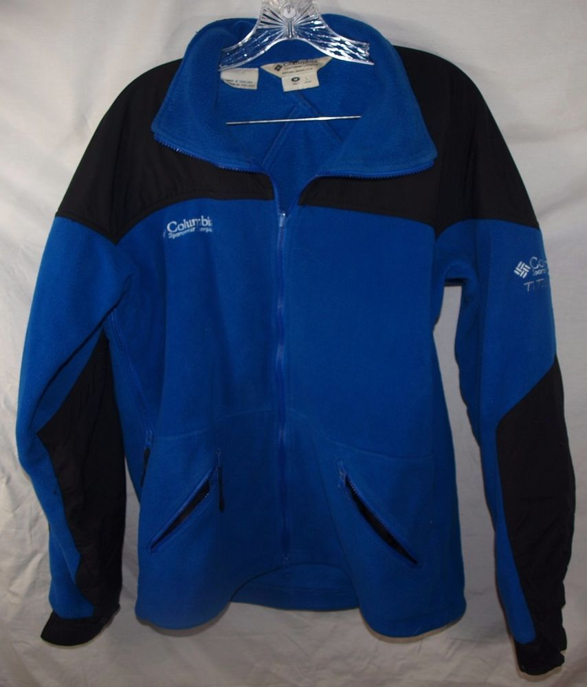 Columbia sportswear titanium interchange blue black fleece jacket
