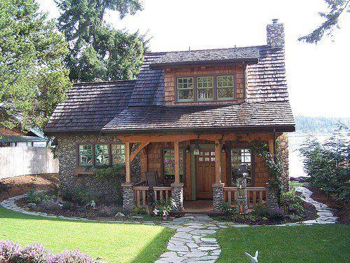 Shake Shingle Small Cottages Shingle Stone Cottage Lake