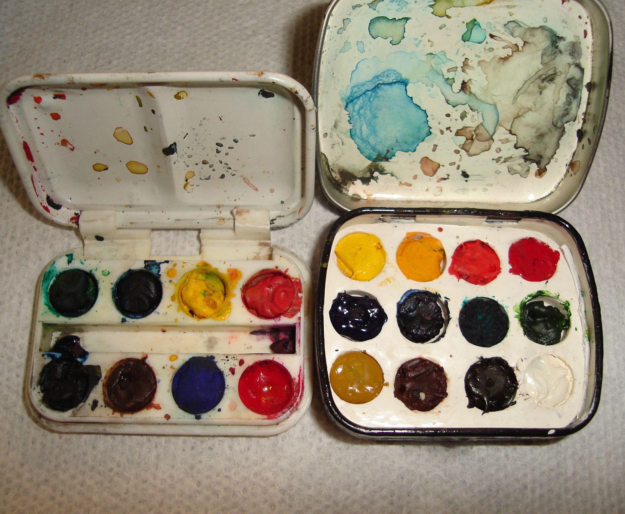 Altoids Mint Tin Mini Watercolor Paint Box New Process