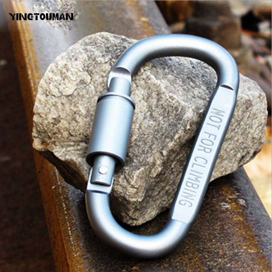 1 PC Carabiner Clip Hook Safety Buckle Lock Outdoor Camping Rock Climbing Tool