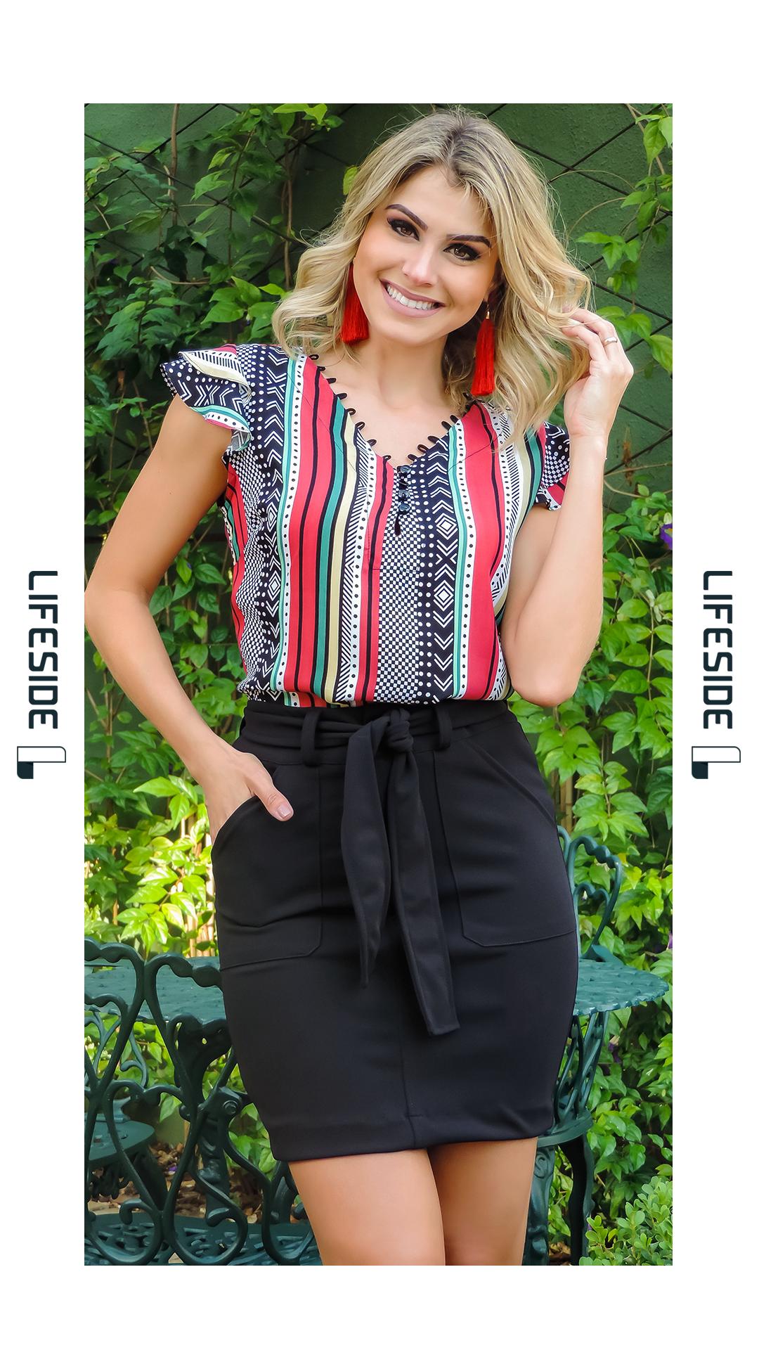 590fe9244caf LIFESIDE   Moda Feminina Preview Primavera 2018. Blusa estampada para o  look de trabalho. #Fashion #ModaFeminina #LookDoDia #Looks  #ModaPrimaveraVerao ...