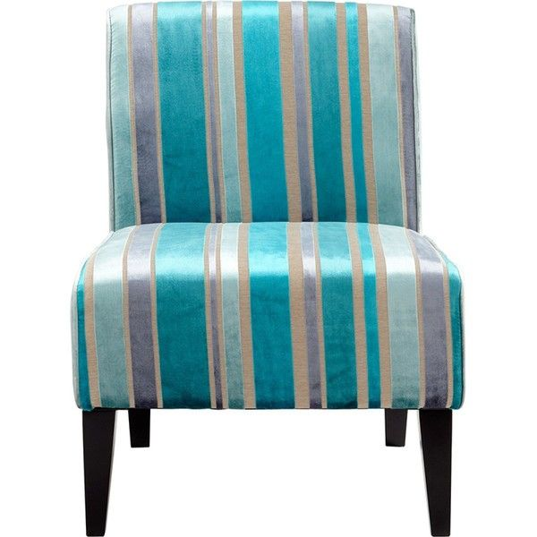 Gentil Cyan Design Ms. Stripy Blu Chair Featuring Polyvore, Home, Furniture, Chairs ,