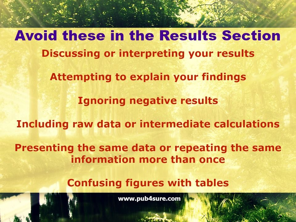 How To Draft The Result Section Of Your Research Article Pub4sure Paper Writing Write And Discussion A
