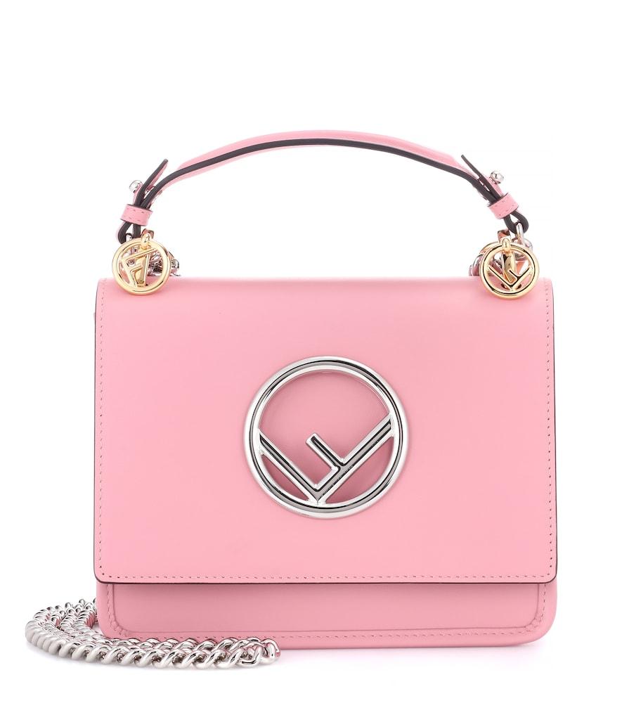 5cad108ec02a Exclusive to mytheresa.com – Kan I F Mini leather shoulder bag in ...