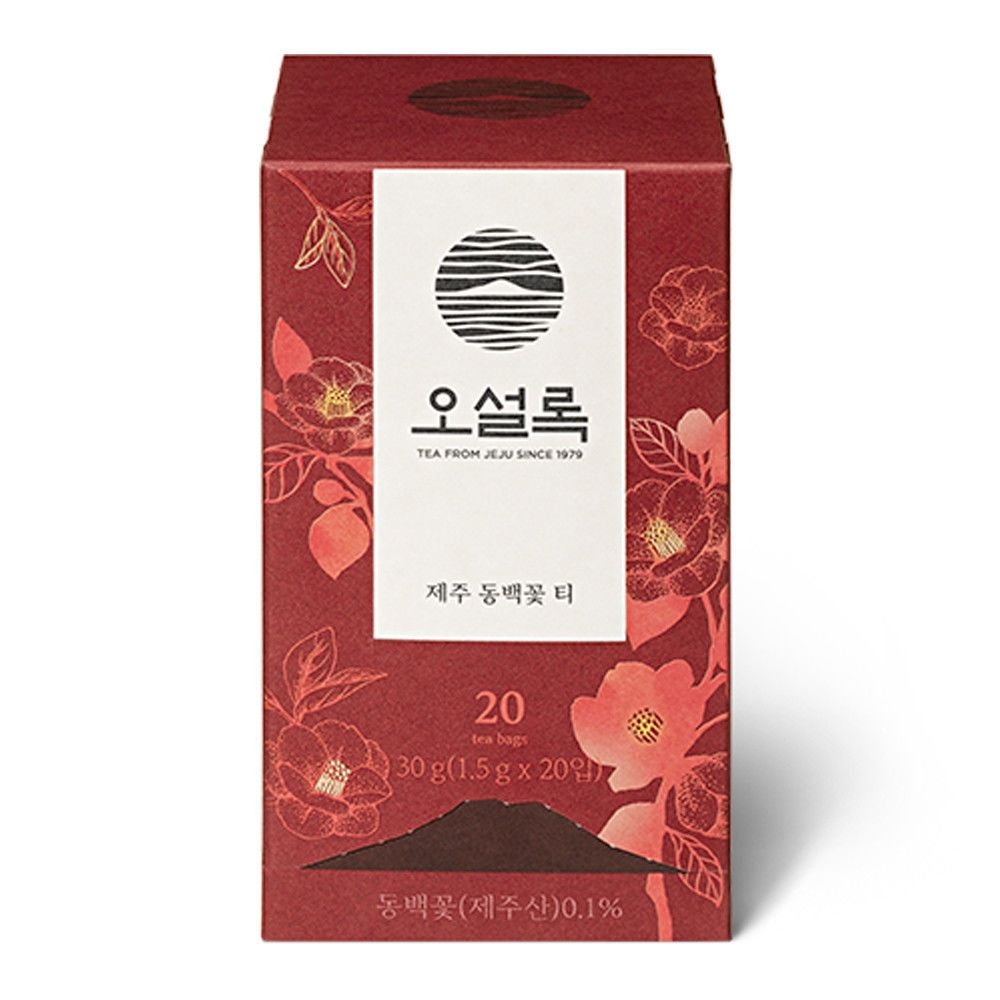 Osulloc Blended Tea Jeju Cameillia Flower Tea 20 Bags 1 5gx20ea Made In Korea Osulloc Flower Tea Tea Bag Camellia Flower
