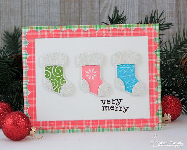 card christmas stockings socks sock stocking happy holidays very merry christmas card by juliana michaels featuring - Michaels Christmas Stockings