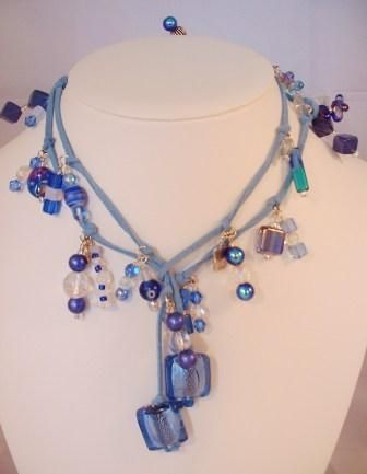 Beaded Scarf Necklace   ... suede handmade beaded lariat necklace stunning long lariat necklace