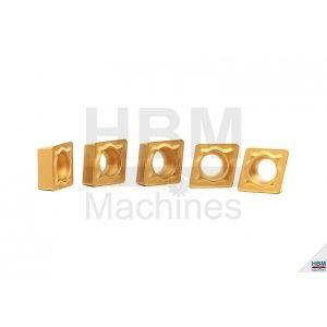 HBM CCMT pinnoitettu teräpalasarja TIN 6, 5 kpl