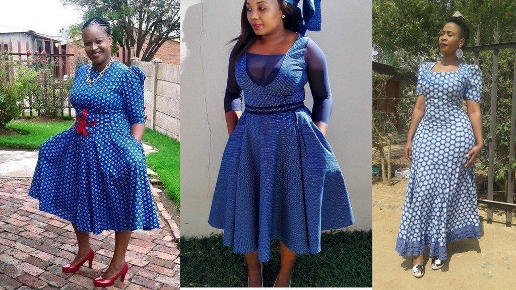 Lesotho Seshoeshoe Designs 2018 : Beautiful Shweshwe Dress