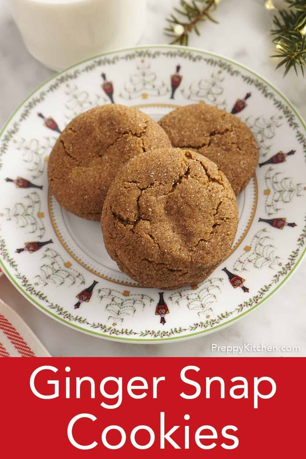 You'll love these perfectly crisp and delicious ginger snap cookies cookies, they basically