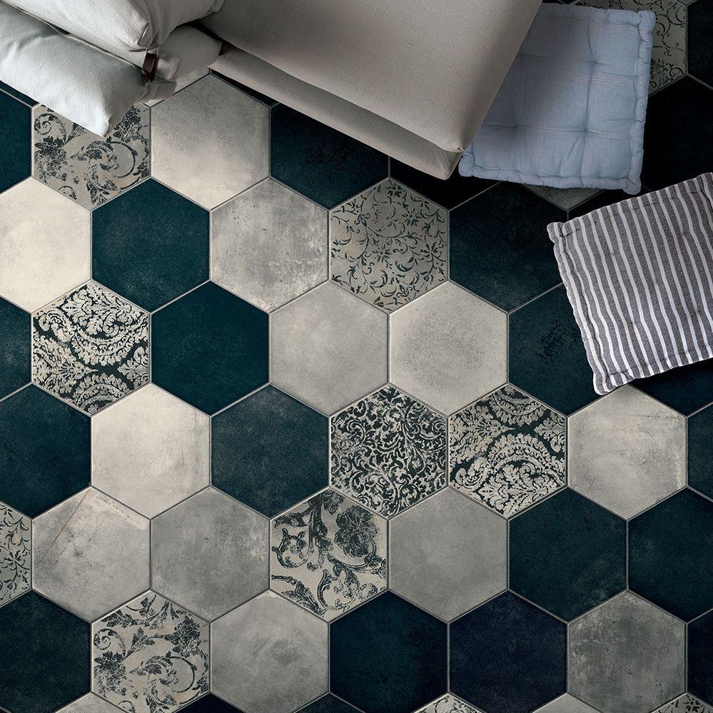 carrelage hexagonal imitation carreaux