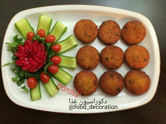 0ce0bb9ab فلافل و دورچین | . Persian recipes / Food decorations . | Food, Iran ...