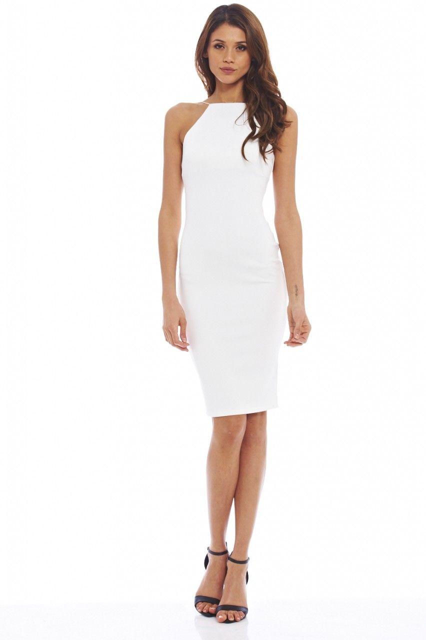 Plain White Dresses - Dress Ala