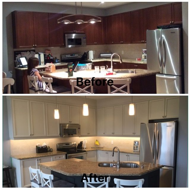 Kitchen Cabinet Makeover Ideas Paint: Kitchen Cabinet Makeover Using Fusion Mineral Paint