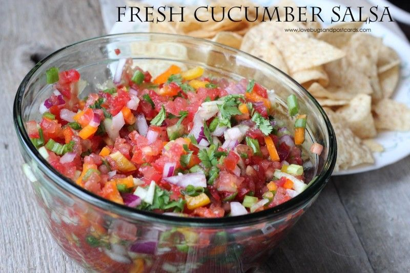 Fresh cucumber salsa recipe cucumber salsa recipe