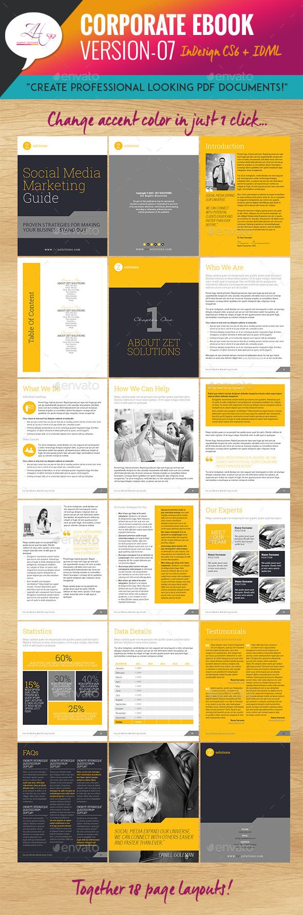 corporate ebook template design download http graphicriver net