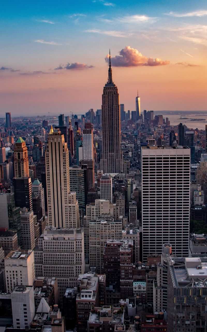 Cityscape Buildings City New York 800x1280 Wallpaper New York Wallpaper City Wallpaper York Wallpaper