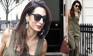 The 37-year-old lawyer was enjoying a day off from her court duties, sporting a smart khaki jumpsuit as she stepped out in London.