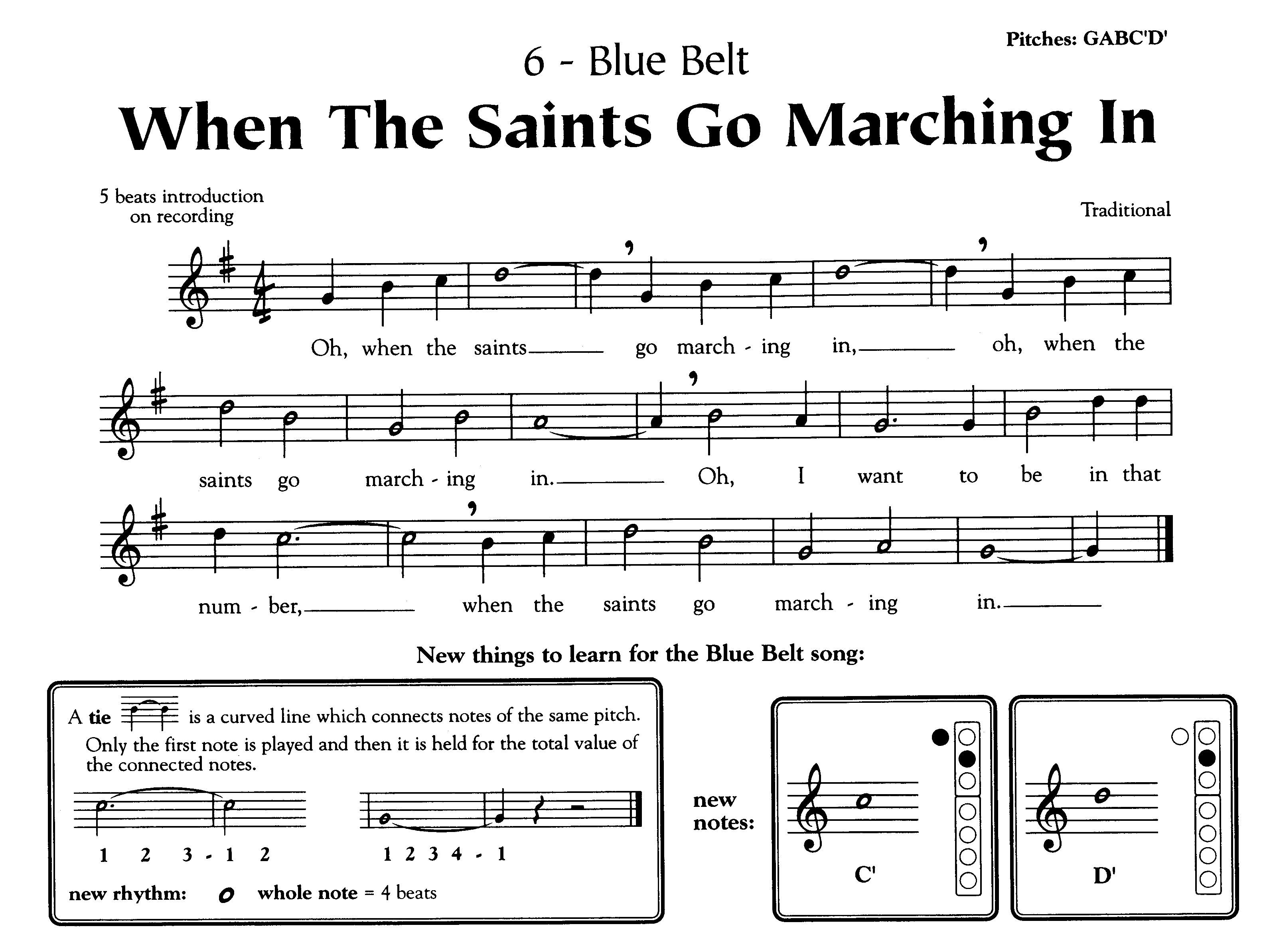 Recorder Karate When The Saints Go Marching In