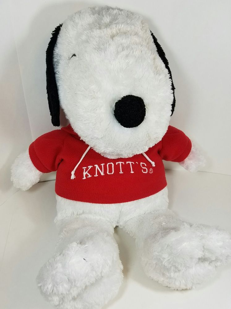 Snoopy Peanuts Knott S Berry Farm Stuffed Plush Animal Large 28