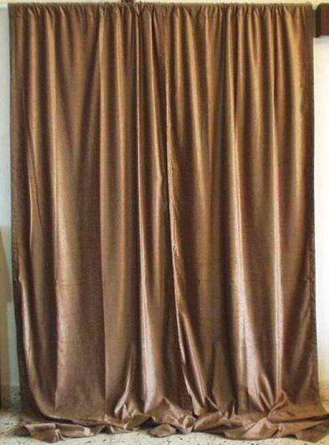 Taupe Velvet Home Theater Curtains Drapes Panels Curtain