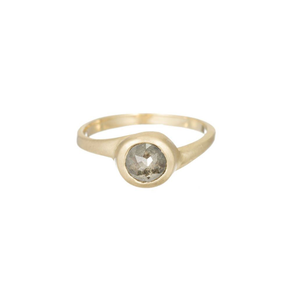 One of a Kind gold ring w/ rose cut diamond