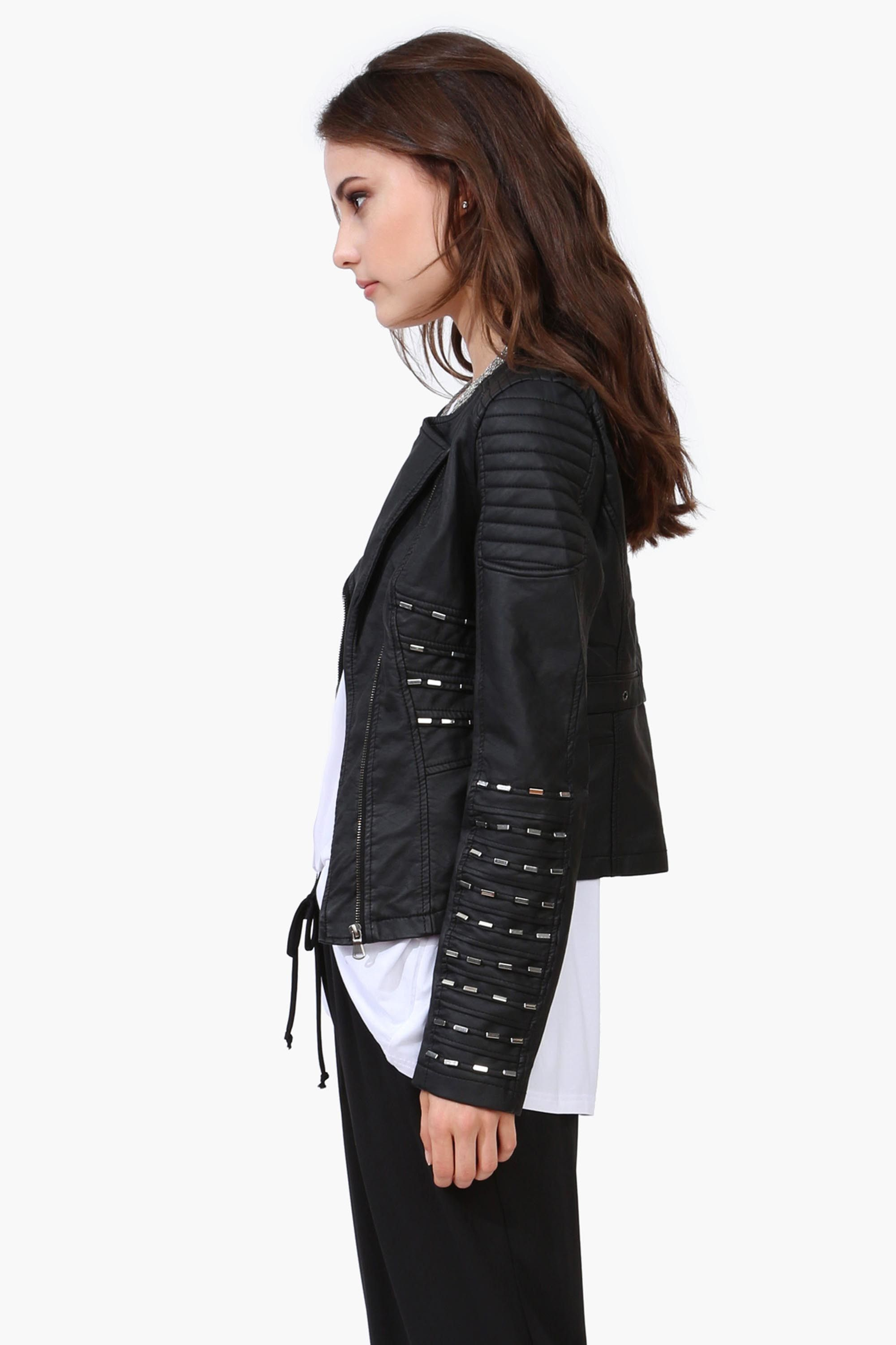 Tender Faux Leather Jacket Leather look jackets, Fashion